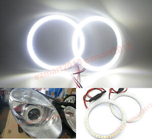 Led Lights For Mercedes Benz E Class W211 03 09 Headlight Angel Eye Halo Rings