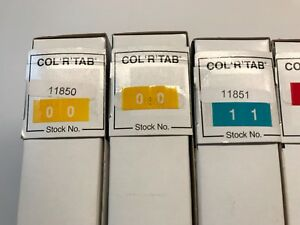 Col r Tab By Tabbies Medical File Labels 00 To 99 11850 11859