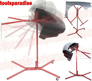 Auto Body Fender Bumper Holder Hanging Stand Tilt Painting Rack Tree Support