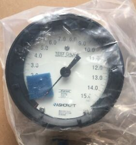Ashcroft Type 1082 Test Pressure Gauge 0 15 Psi 45 1082 a s 02l 15