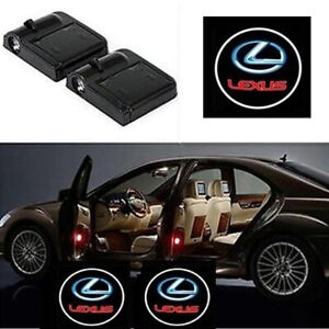 2pcs For Lexus Logo Wireless Led Door Step Courtesy Shadow Laser Welcome Lights