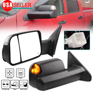 Fit For 02 08 Dodge Ram 1500 03 09 2500 3500 Tow Mirrors Power Heated Led Signal