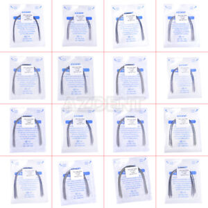 Pick 100 X Az Orthodontic Dental Arch Wires Stainless Steel Rectangular Natural