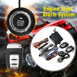 Auto Keyless Entry Alarm Pke System Remote Engine Start Push Start Stop Button