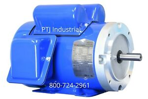 1 5 Hp Electric Motor 56c Single 1 Phase Tefc 115 230 Volt 3600 Rpm F56c1 5s2c