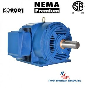 40 Hp Electric Motor 286ts 3 Phase 3545 Rpm Open Drip Proof 208 230 460