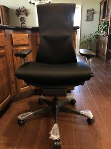 Herman Miller Embody Office Chair Black Rhythm Fabric See Photos