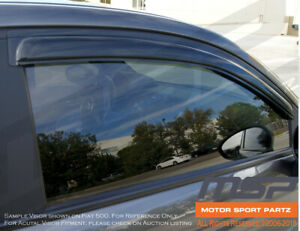 In Channel Windows Visor Sun Guard Sunroof Combo 5pcs Dodge Charger 2006 2010