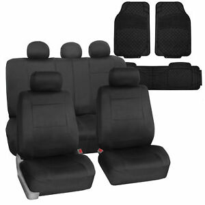 Universal Waterproof Neoprene Seat Cover Black W Black Heavy Duty Floor Mats