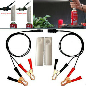 Pro Car Fuel Injector Flush Cleaner Adapter Kit Set Vehicle Cleaning Diy Tool