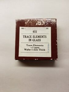 Nist Standard Reference Material 615 Trace Elements In Glass
