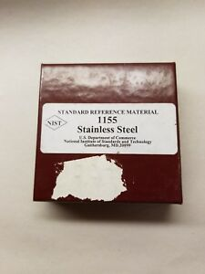 Nist Standard Reference Material 1155 Stainless Steel