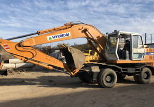 1998 Hyundai R 200w 2 Wheeled Excavator Video Inspection Included