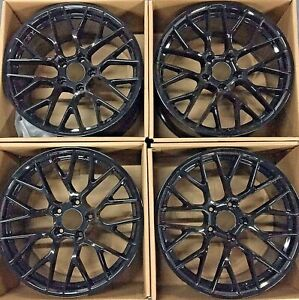 20 Porsche Cayenne 2015 2019 Hybrid Wheels Rims New Oem Glossy Black Set Of 4