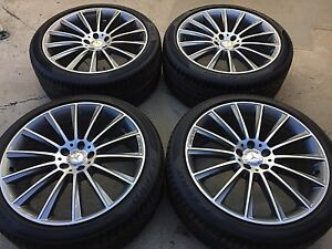 20 New Amg Oem S560 S550 Cls 2019 Model Mercedes Rims Wheels Tires Set 4