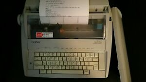 Brother Gx 6750 Electronic Typewriter W keyboard Cover test Print