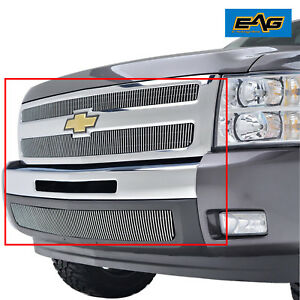 2007 2013 Chevy Silverado 1500 Grille Insert Combo Front Top Bumper 2011 2012