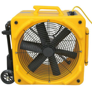 Zoom 1 4 Hp Dual Speed Axial Ventilation Air Blower Fan With Handle Wheel Kit A