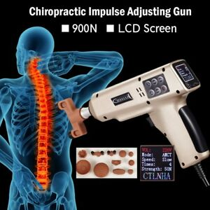 Large Powerful Chiropractic Impulse Adjusting Gun With 11 Massage Heads