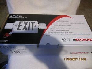 Exitronix Vled el90 Exit Sign Thermoplastic Led Combo
