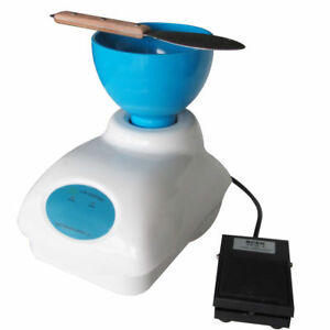 Dental Impression Alginate Mixer Material Mixing With Foot Pedal Control Bowl Ce