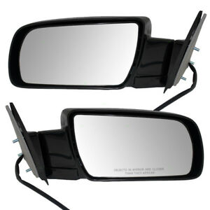Gmc Chevy Suv Pickup Truck Set Side View Power Mirrors Standard W Metal Bases