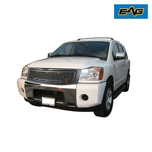 Eag Titan Packaged Front Hood Gray Grille Mesh Grill For 04 07 Nissan Titan