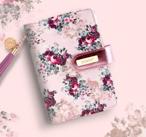 Pink Floral Spiral Notebook Agenda Organizer A6 Rose Planner Personal Diary Book