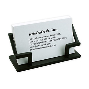 Artsondesk Modern Art Business Card Holder Bk301 Steel Black Patented Desk Day
