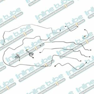 1971 76 Chevrolet Impala Hardtop Complete Power Brake Line Set Kit Stainless