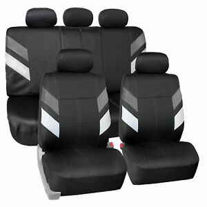 Seat Covers Neoprene Waterproof For Auto Car Suv Van Full Set Gray