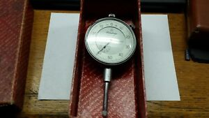 Mitutoyo No 2417 Dial Indicator With 2 Dia Face 001 Grad 1 0 Travel