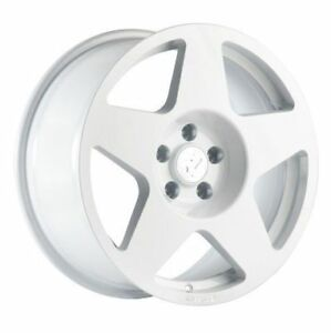 17x9 Fifteen52 Tarmac 5x100mm Et45 White Wheels Aggressive Fits Wrx 2002 2014