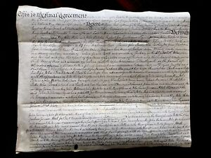 1785 Document On Parchment