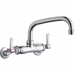 Elkay Foodservice Commercial Restaurant 8 Swing Wall Mount Sink Faucet Chrome