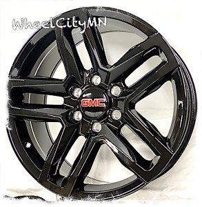 20 Inch Gloss Black Trail Boss Replica Wheels Fits Gmc Sierra 1500 Denali 6x5 5
