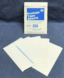 qty 25 Sheets 612 2 Pitney Bowes Postage Tape Sheets B700 f800 f900 Meter