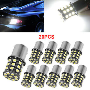 20x White 1156 12vdc Replacement Rv Trailer 33 Smd Led 1141 Interior Light Bulbs