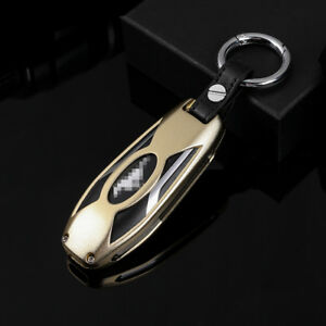 Aolly Golden Smart Key Case Chain Cover For Ford Mustang Gt V6 Coupe 2015 2018