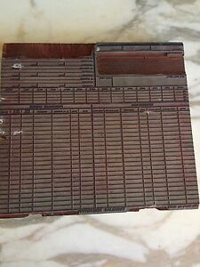 Vintage Wood Printers Block Plate Purchase Requisition Order Form