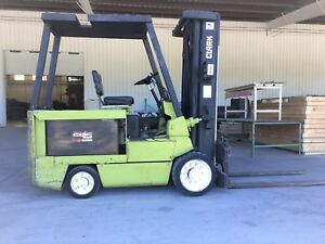 Clark Electric Forklift 8000lbs 60 Fork Lift Truck Liftruck Side Shift Forks