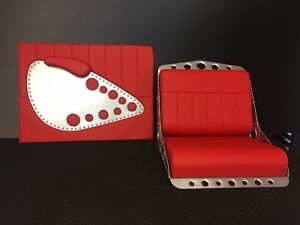 Bomber Style Bucket Seats And Door Panels For Rat Rod Street Rod Or Airboat