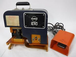 Used Molex Etc Air Powered Suitcase Crimping Press Foot Pedal V1