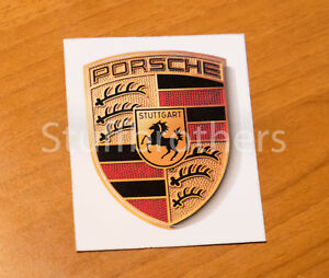 Brand New Genuine Porsche Sticker Crest Logo Oem Wap013002 65mm X 53mm Stick