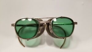 Vintage Pi Z87 Safety Green Lens Glasses Goggles W Moveable Mesh 6 3 4 48 24