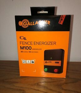 Gallagher Electric Fence Charger M100 For Up To 30 Acres new
