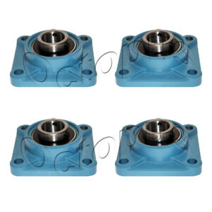 4 Pcs Ucf 208 24 Self align 4 Bolt Flange Pillow Block Bearing 1 1 2 Inch