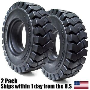 2pk 5 00 8 500 8 5008 5 00 8 Solid Forklift Tires 3 0 Rw 5 00 8 Flat Proof 5008