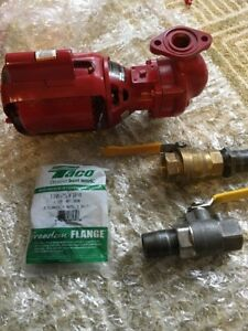 Bell Gossett 106189 100 Series Nfi Iron Body Circulator New flanges And Valve
