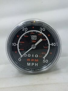 Stewart Warner Mph Rpm Speedometer 824393 Usa